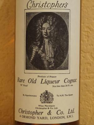 Cognac Christopher's rare old 1951