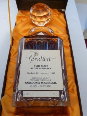 Whisky Glenlivet 1938 G&M Edinburgh Decanter