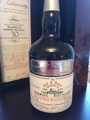 Bowmore 1989 30 Years Old & Rare Heritage Platinum Whisky 53,1%