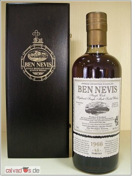 Whisky Ben Nevis 1966 49 years 43,6% Alambic