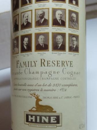 Cognac Hine Family Reserve old edition